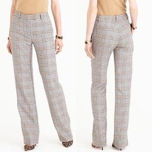 J Crew • Glen Plaid wide leg trouser pants